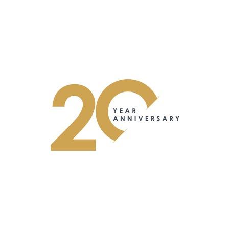 20 lat rocznica szablon wektor ilustracja projektu Ilustracje wektorowe