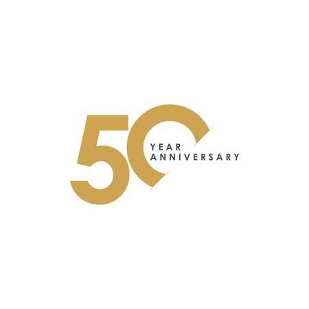 50 lat rocznica szablon wektor ilustracja projektu Ilustracje wektorowe