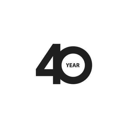 40 Year Anniversary Vector Template Design Illustration Vector Illustratie