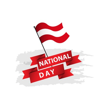 Austria National Day Vector Template Design Illustration Ilustracja