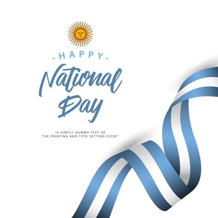 Happy Argentina National Day Vector Template Design Illustration