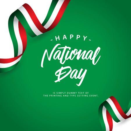 Glückliche italienische Nationalfeiertag-Vektor-Vorlagen-Design-Illustration