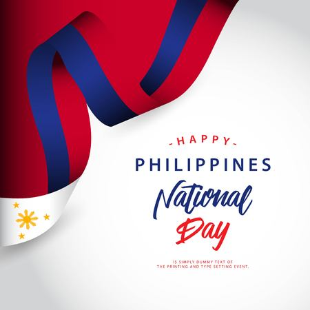 Happy Philippines National Day Vector Template Design Illustration Illustration