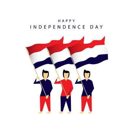 Happy Netherlands Independence Day Vector Template Design Illustration Stock Illustratie