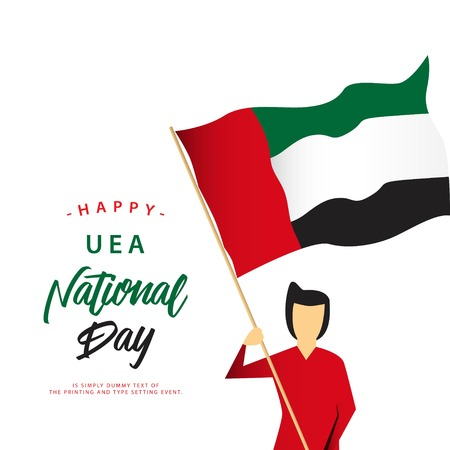 Happy UEA National Day Vector Template Design Illustration