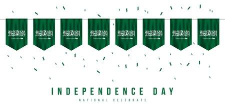 Saudi-Arabien Unabhängigkeitstag Vektor Vorlage Design Illustration Vektorgrafik