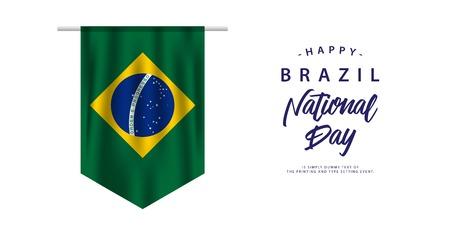 Happy Brazil National Day Vector Template Design Illustration Vektorové ilustrace