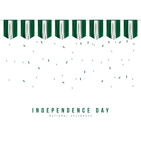 Nigeria Independence Day Vector Template Design Illustration