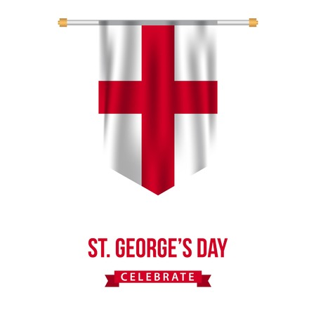 ST Georges Day Vector Template Design Illustration