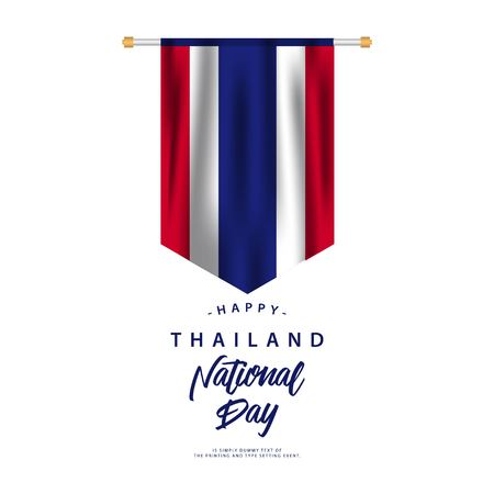 Thailand National Day Vector Template Design Illustration