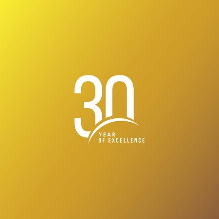 30 Year of Excellence Vector Template Design Illustration