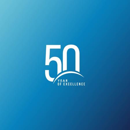 50 ans d'excellence Vector Template Design Illustration