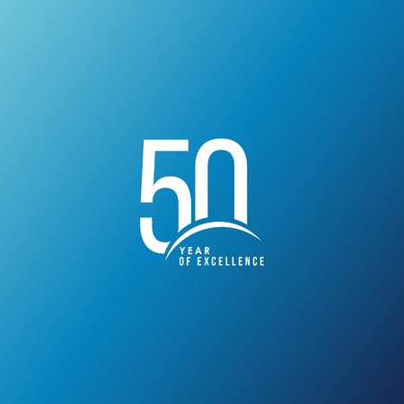 50 Year of Excellence Vector Template Design Illustration 일러스트
