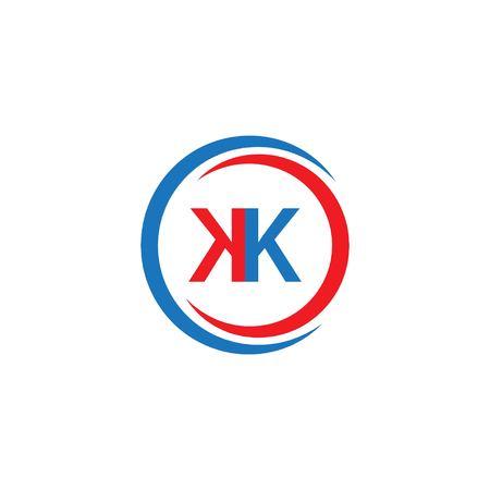 KK Company Logo Vector Template Design Illustration Logó