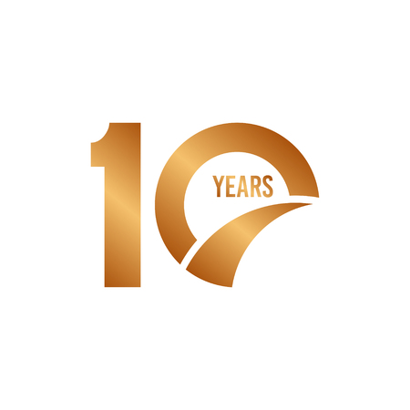 10 Year Anniversary Vector Template Design Illustration Vectores