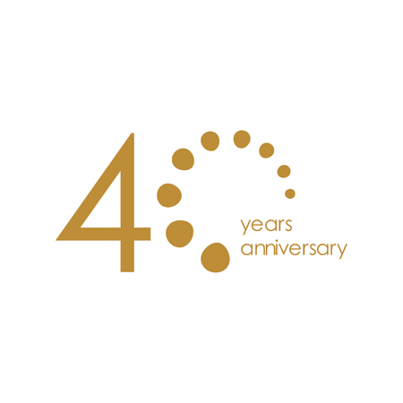 40 Year Anniversary Vector Template Design Illustration Foto de archivo - 120259645