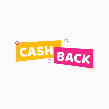 Cash Back Label Vector Template Design Illustration