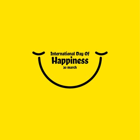 International Day of Happiness Vector Template Design Illustration Illustration