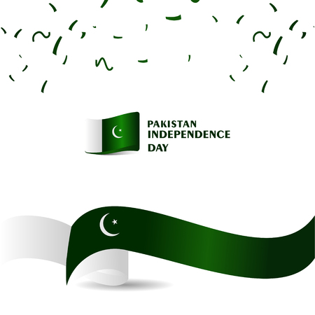 Pakistan independence Day Vector Template Design Illustration