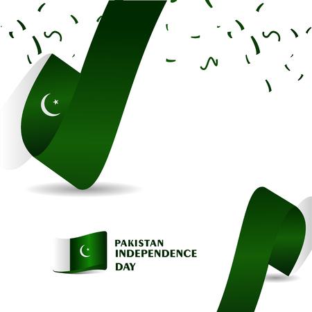 Pakistan independence Day Vector Template Design Illustration Banco de Imagens - 120638157