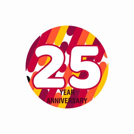 25 Year Anniversary Vector Template Design Illustration Vektoros illusztráció