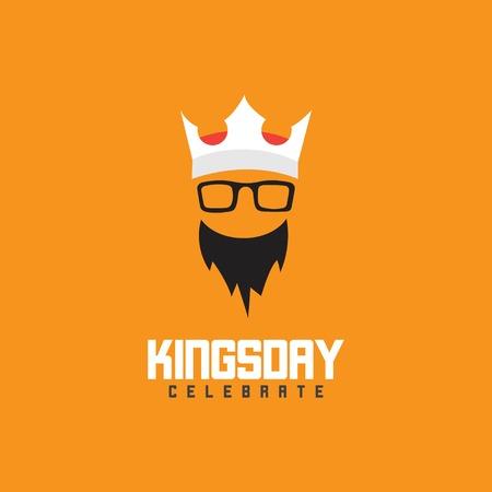 Kings Day Celebrate Vector Template Design Illustration Фото со стока - 123726362