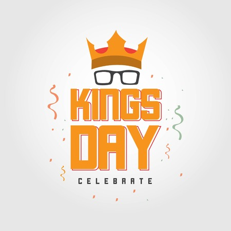 Kings Day Celebrate Vector Template Design Illustration Фото со стока - 123726364