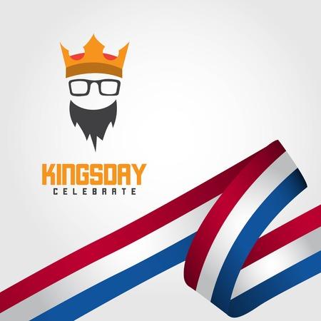 Kings Day Celebrate Vector Template Design Illustration Фото со стока - 123726365