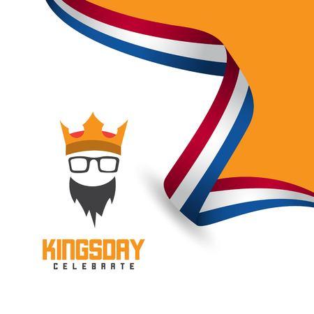 Kings Day Celebrate Vector Template Design Illustration Фото со стока - 123726367