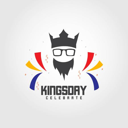 Kings Day Celebrate Vector Template Design Illustration Фото со стока - 123726371