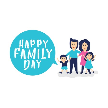 Happy Family Day Vector Template Design Illustration
