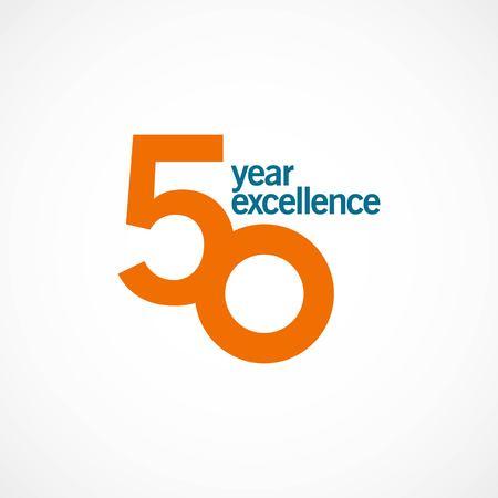 50-letnia rocznica doskonałości ilustracji wektorowych szablonu projektu