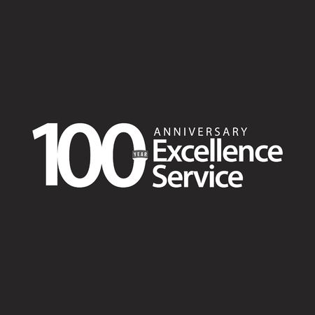 100 Year Anniversary Excellence Service Vector Template Design Illustration