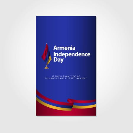 Armenia Independence Day Vector Template Design Illustration