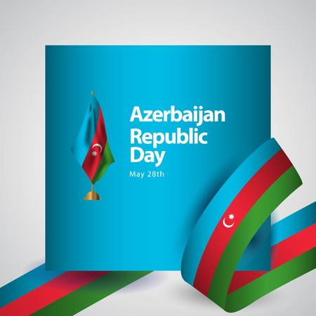 Azerbaijan Republic Day Vector Template Design Illustration Vector Illustratie