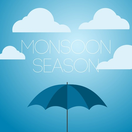 Monsoon Season April Showers Vector Template Design Illustration Icon Vektorové ilustrace