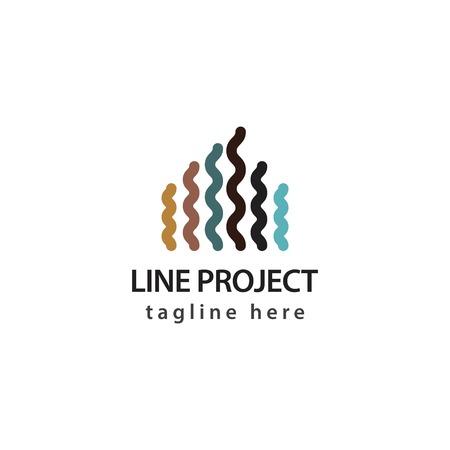 Line Project Logo Vector Template Design Illustration