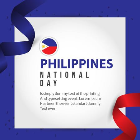 Philippines National Day Vector Template Design Illustration