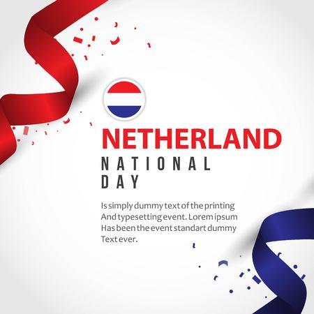 Netherlands National Day Vector Template Design Illustration Illustration
