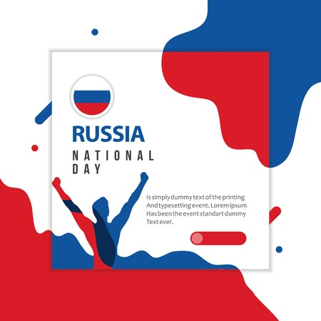 Happy Russia National Day Vector Template Design Illustration