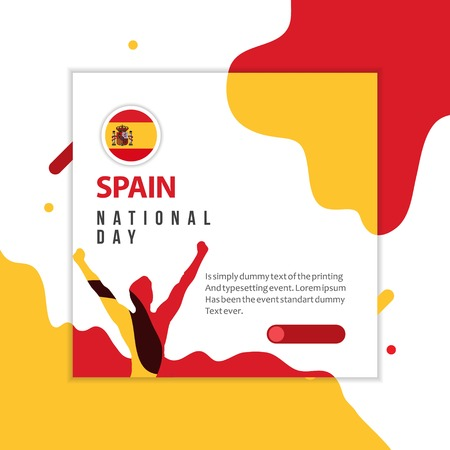 Happy Spain National Day Vector Template Design Illustration