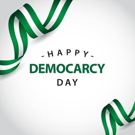 Happy Democracy Day Vector Template Design Illustration Illusztráció