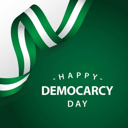 Ilustración de diseño de plantillas vectoriales de feliz día de la democracia