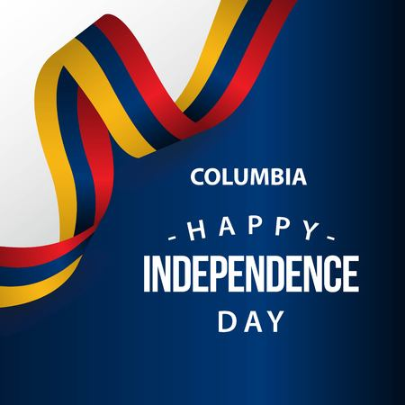 Happy Columbia Independence Day Vector Template Design Illustration