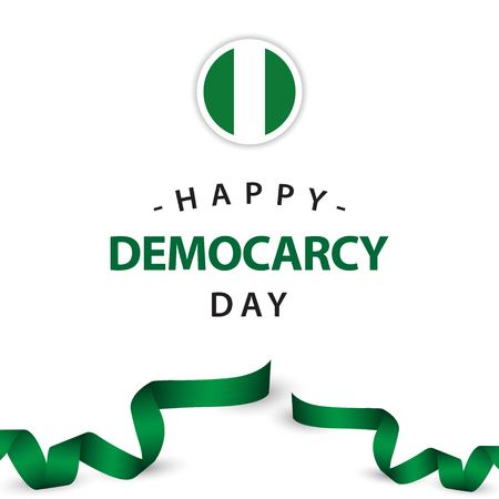 Happy Democracy Day Vector Template Design Illustration  イラスト・ベクター素材