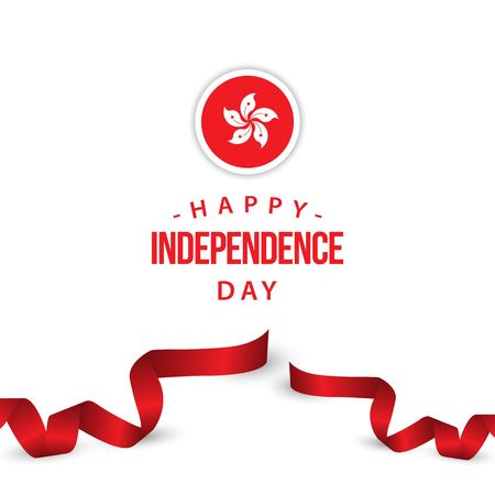 Happy Hong Kong Independence Day Vector Template Design Illustration 向量圖像