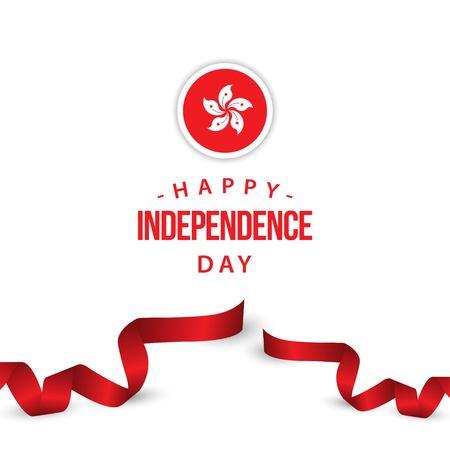 Happy Hong Kong Independence Day Vector Template Design Illustration Illustration