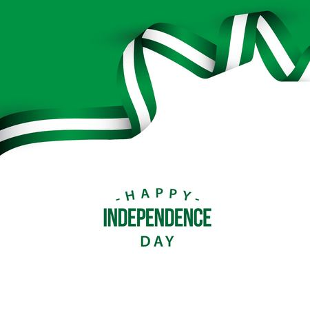 Happy Nigeria Independence Day Vector Template Design Illustration 스톡 콘텐츠 - 121258575
