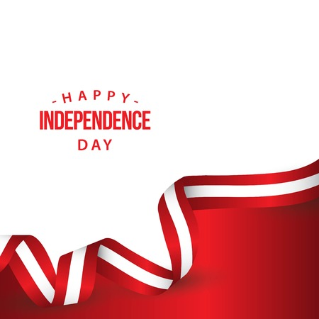 Happy Austria Independence Day Vector Template Design Illustration