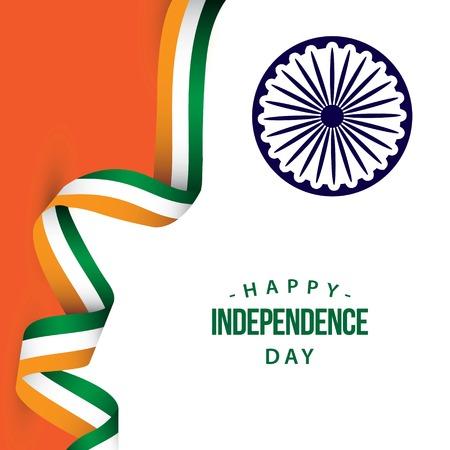 Joyeux Jour de l'Indépendance de l'Inde Vector Template Design Illustration Vecteurs